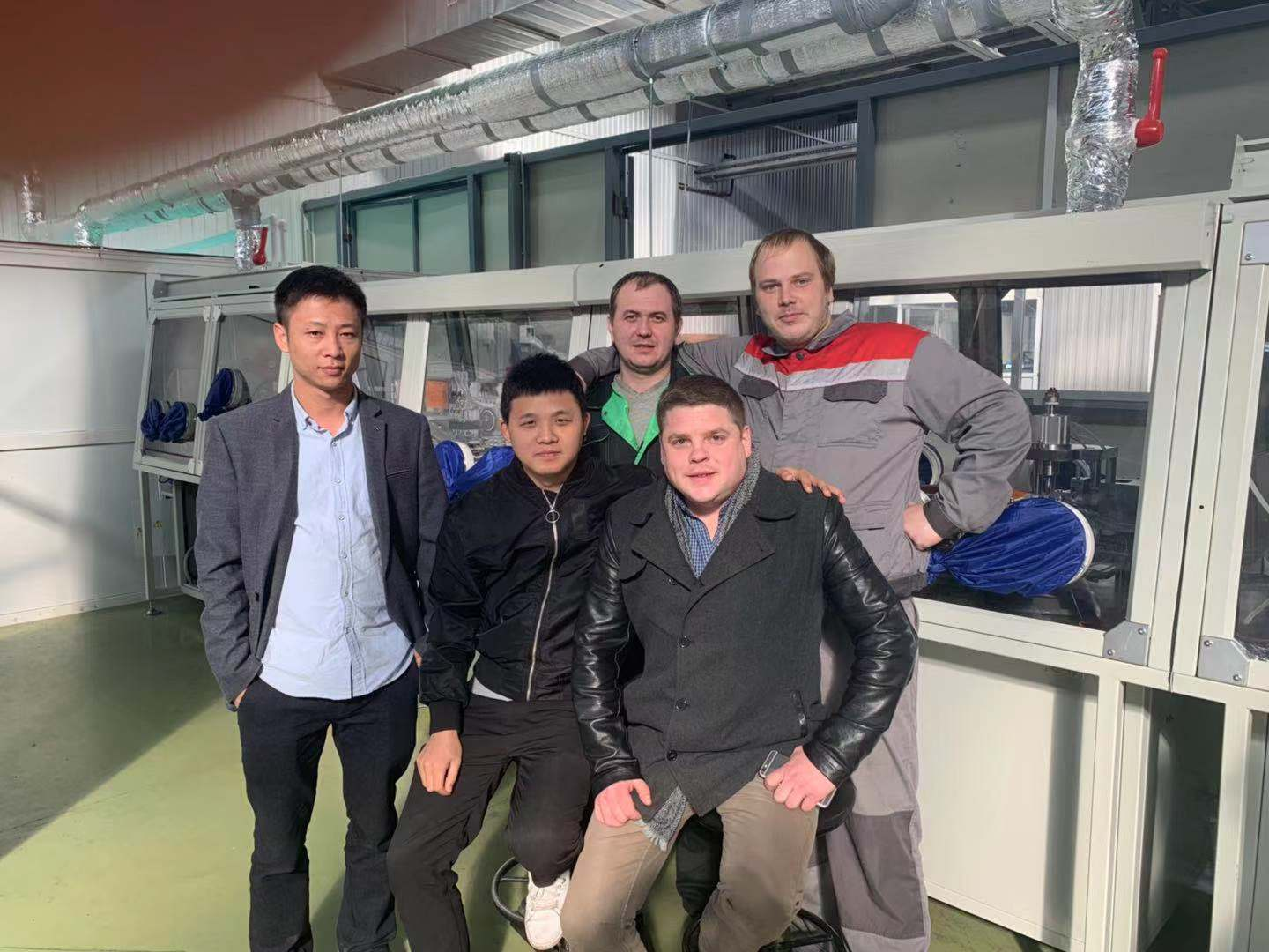 Russian Customer---A Perfect Ending in Installation of Battery Production Line